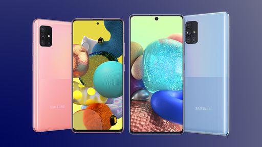 Samsung oficializa versões 5G dos Galaxy A51 e A71 com poucas mudanças