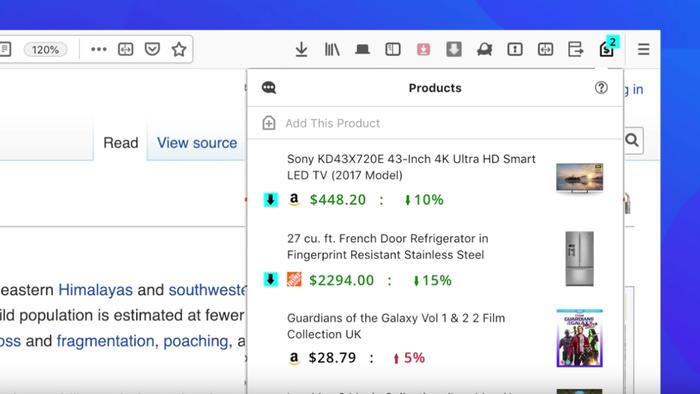 Firefox testa ferramenta para acompanhamento de preços online