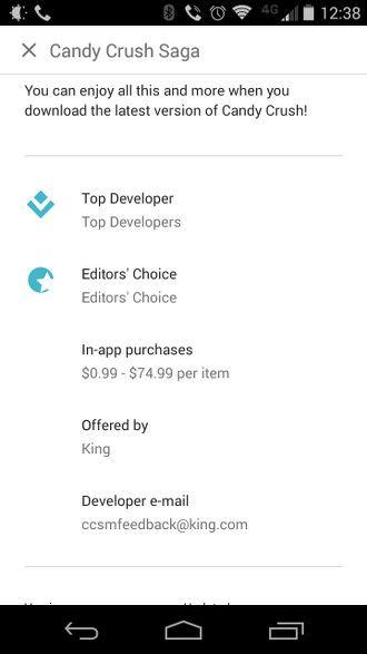 Candy Crush Saga Google Play