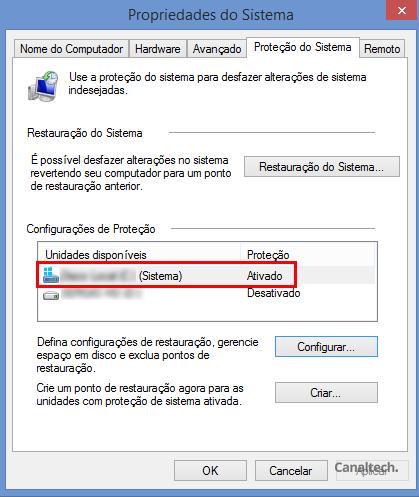 Certifique-se de que o seu Windows está criando pontos de restauração automaticamente acessando as