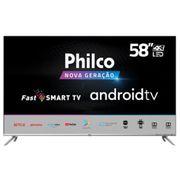 """Smart TV LED 58"""" UHD 4K Philco PTV58G71AGBLS Inteligência Artificial Google Assistente, Chromecast Built-In, Dolby Audio, HDR e Processador Quad-Core"""