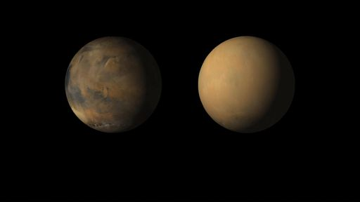 Tempestades de areia em Marte afetam o clima dos polos de maneiras diferentes