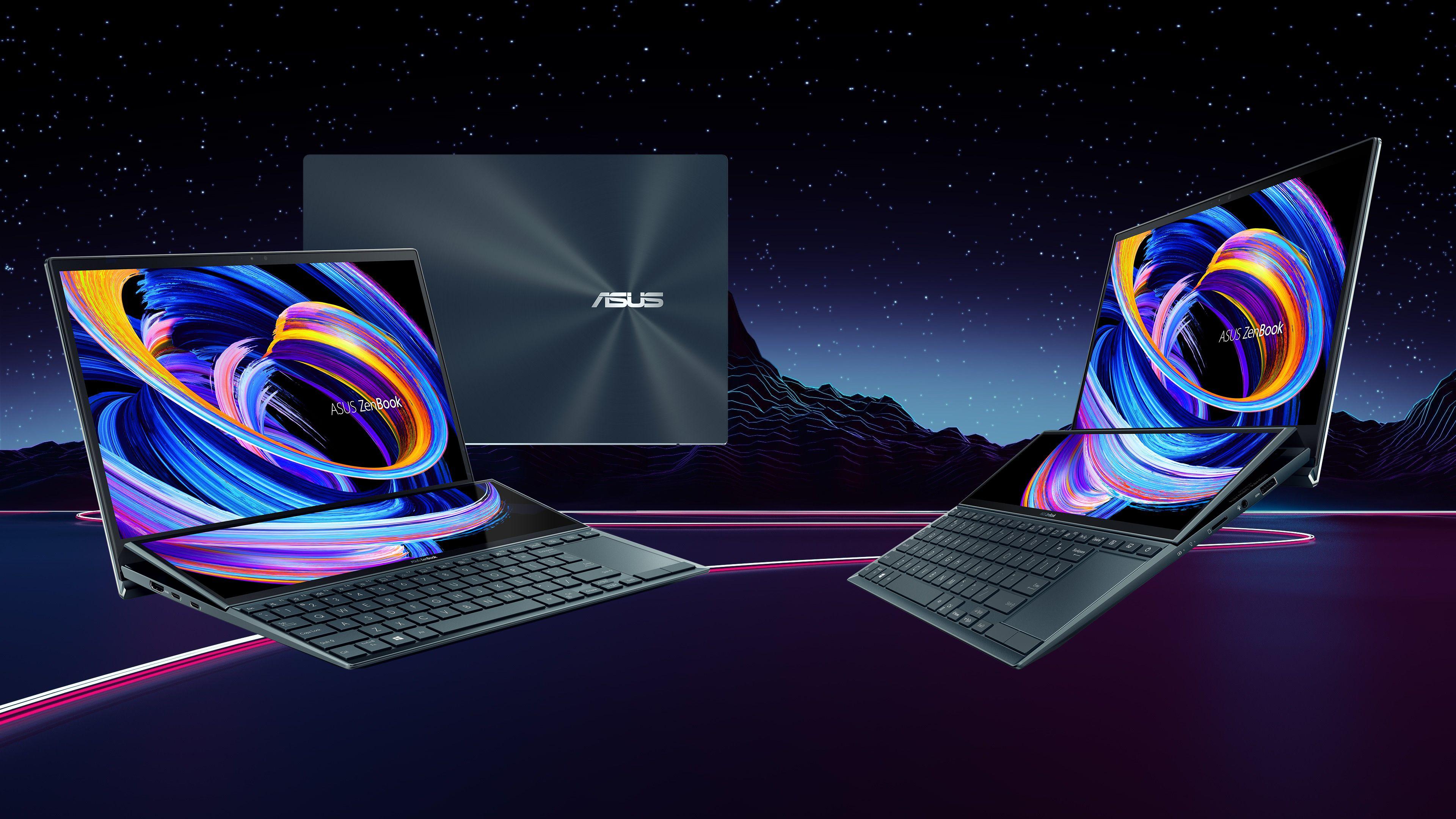 Modelo topo de linha da linha, ZenBook Duo 14 se destaca pela ScreenPad Plus, uma tela adicional de 12,6 polegadas para incrementar a produtividade