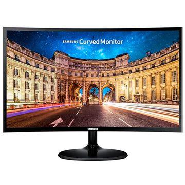 Monitor Curvo Full Hd Samsung Led 24 Polegadas C24F390 Preto [BOLETO]
