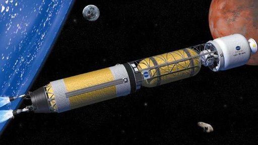 NASA planeja usar energia térmica nuclear em foguetes para chegar a Marte