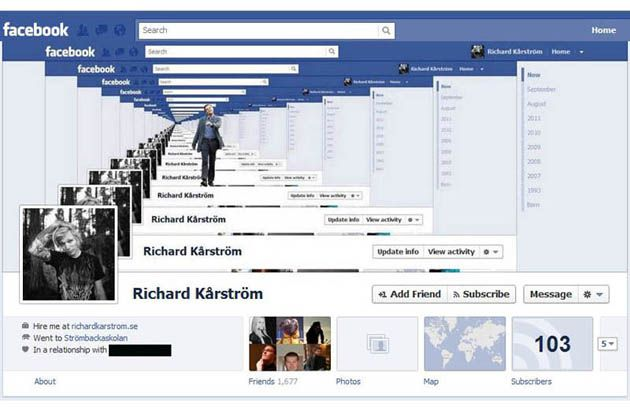Timeline cover facebook infinito