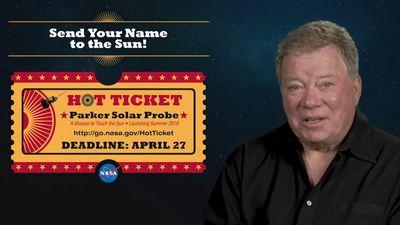 Clássico capitão Kirk quer que você envie seu nome para o Sol em sonda da NASA