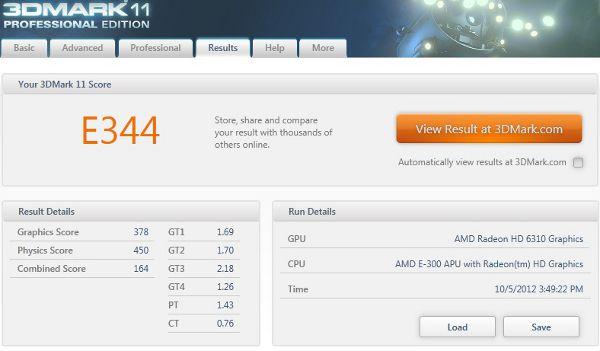 AOC EVO LED U9425 - 3DMark 11 - EVO LED - Entry