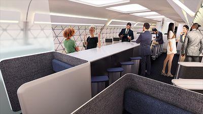 Empresa do grupo Airbus planeja avião sem janelas e com Starbucks a bordo
