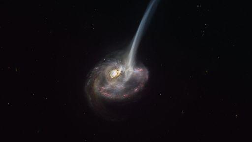 Astrônomos observam uma galáxia no fim de sua vida pela primeira vez