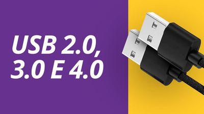 Quais as diferenças entre os padrões USB 2.0, 3.0 e 4