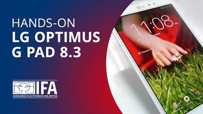 Experimentamos o LG Optimus G Pad 8.3 [Hands-on | IFA 2013]