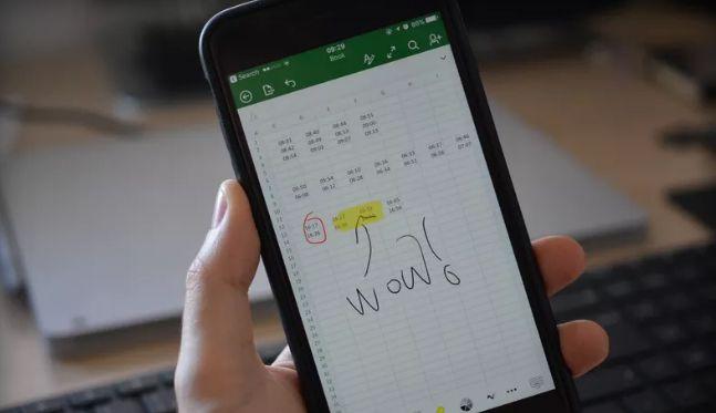 Excel no iPhone