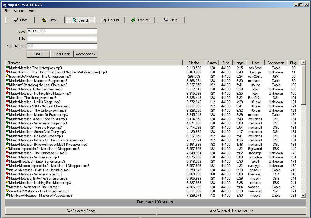 Napster v2.0