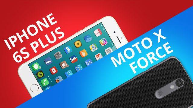 b0fe76df4 iPhone 6S Plus VS Motorola Moto X Force  Comparativo  - Vídeos - Canaltech