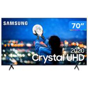 "Smart TV Crystal UHD 4K LED 70"" Samsung - 70TU7000 Wi-Fi Bluetooth 2 HDMI 1 USB [À VISTA]"
