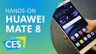 Huawei apresenta o novo Mate 8 [Hands-on | CES 2016]