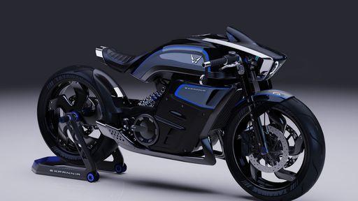 Startup apresenta conceito de moto elétrica com design futurista