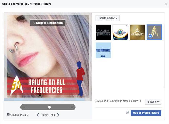 Frames Star Trek Facebook