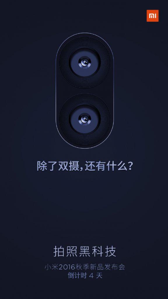 Teaser mostra que o próximo aparelho da marca virá com duas câmeras na parte de trás. O que ninguém sabe é se vai ser o Mi 5s ou o Mi Note S