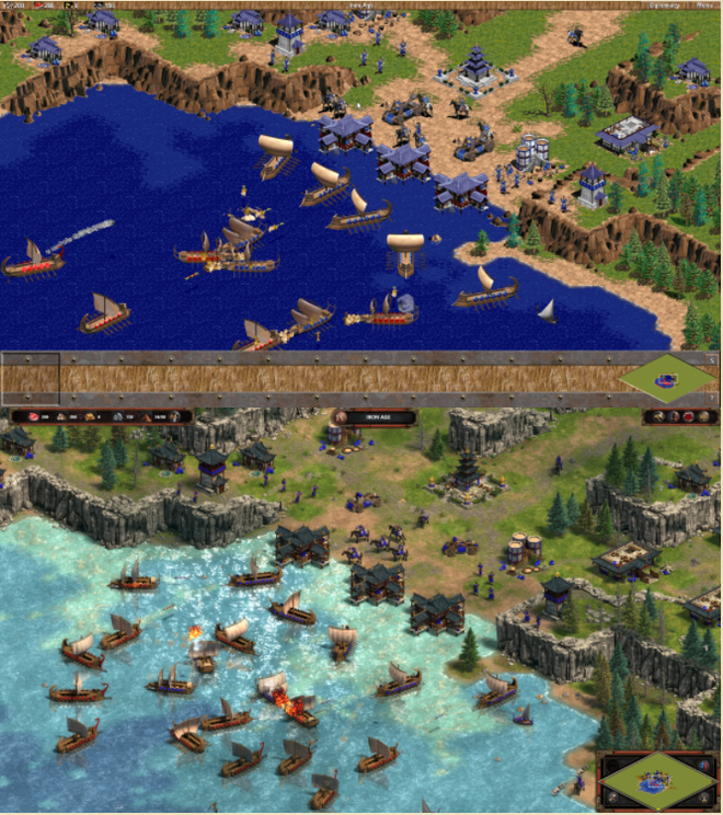 Comparativo mostra a diferença gritante que existe entre os gráficos originais e os da Definitive Edition