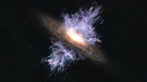 Um buraco negro expulsou o material estelar desta galáxia de 13 bilhões de anos