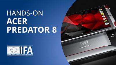 Acer Predator 8: um tablet feito sob medida para gamers [Hands-on   IFA 2015]