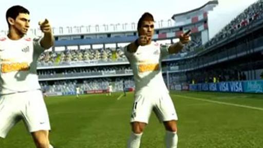 PES 2013 traz Neymar e Ganso fazendo a dancinha de Michel Teló. Baixe a demo!