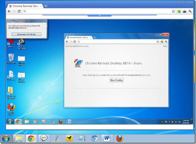 Com o Chrome Remote Desktop é possível não só acessar outros computadores remotamente, como também transmitir arquivos entre eles