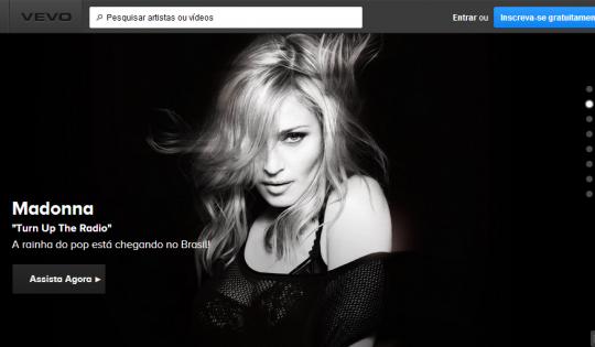 Vevo Brasil screenshot