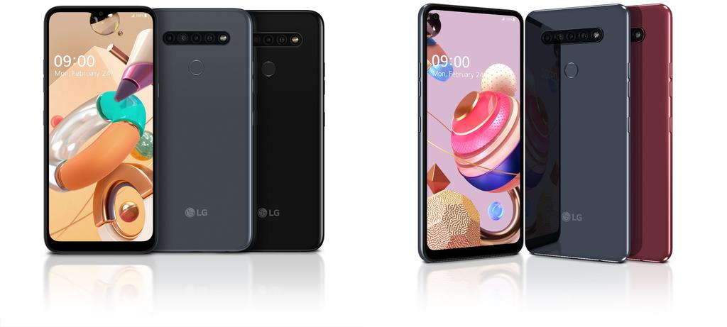 LG K41S (esquerda) e K51S (direita)