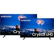 "Samsung Smart TV 65'' Crystal UHD 65TU8000 4K + Samsung Smart TV 50"" Crystal UHD 50TU8000 4K [CUPOM DE DESCONTO]"