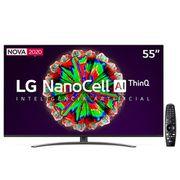 "Smart TV LED 55"" UHD 4K LG 55NANO81 NanoCell, IPS, Bluetooth, HDR, Google Assistente, Smart Magic - 2020"