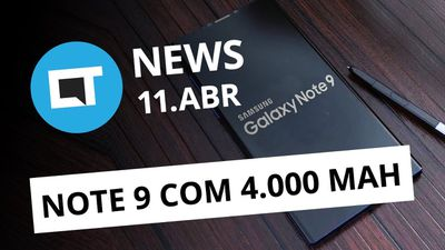Galaxy Note 9 com 4000 mAh; GoPro 360º no Brasil; Facebook no Senado e+[CT News]