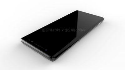 Imagens do Galaxy Note 8 vazam e mostram design controverso