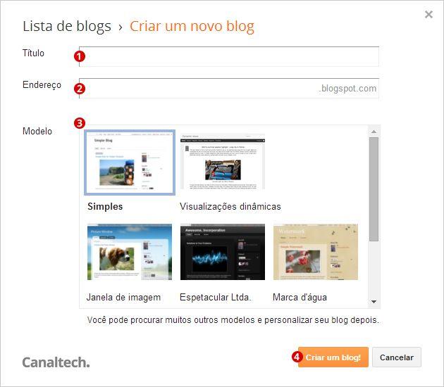 Criando Blog Blogger