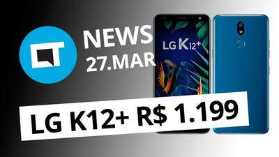 LG K12+ no Brasil; Galaxy Note 10 sem botões; Pegadinha no Twitter e + [CT News]