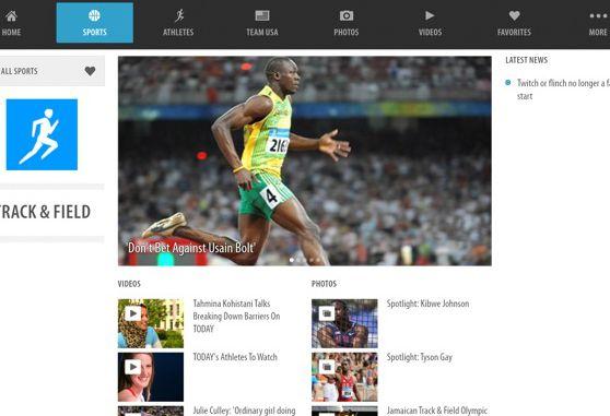 Screenshot app Olimpíadas 2012