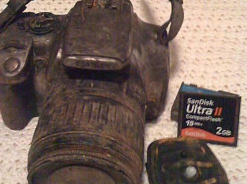 Canon XT enlameada
