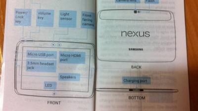 Imagens do suposto manual do Samsung Nexus 10 vazam na internet