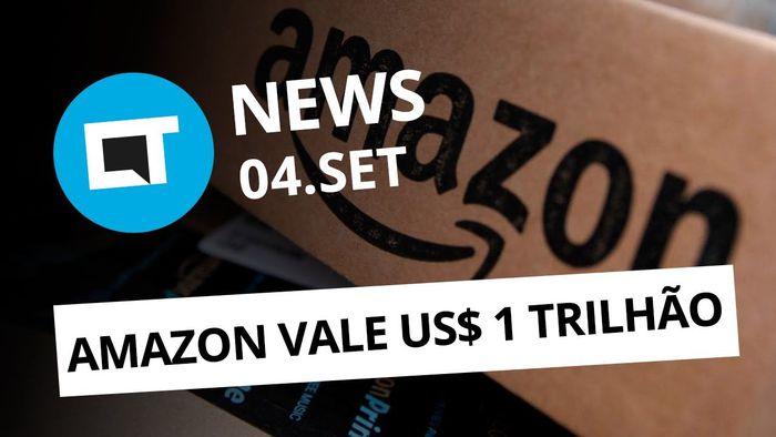 58d72f7c456e4 Amazon agora vale US  1 trilhão  Samsung Galaxy dobrável em 2018 e +  CT  News  - Vídeos - Canaltech