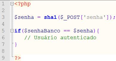 Sempre criptografe as senhas da sua aplicação