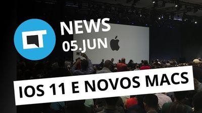 WWDC 2017: iOS 11 e novos Macs; LG X500 com bateria de 4.500 mAh e + [CT News]