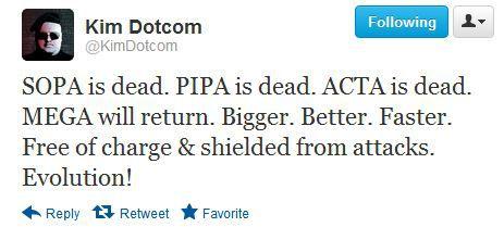 Kim Dotcom - SOPA is dead