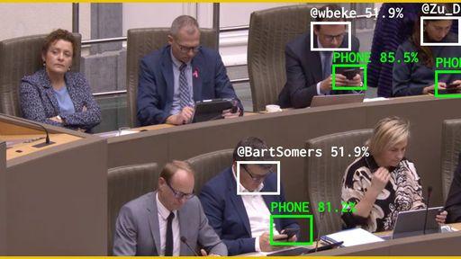 IA analisa tempo de uso do celular por políticos durante assembleias