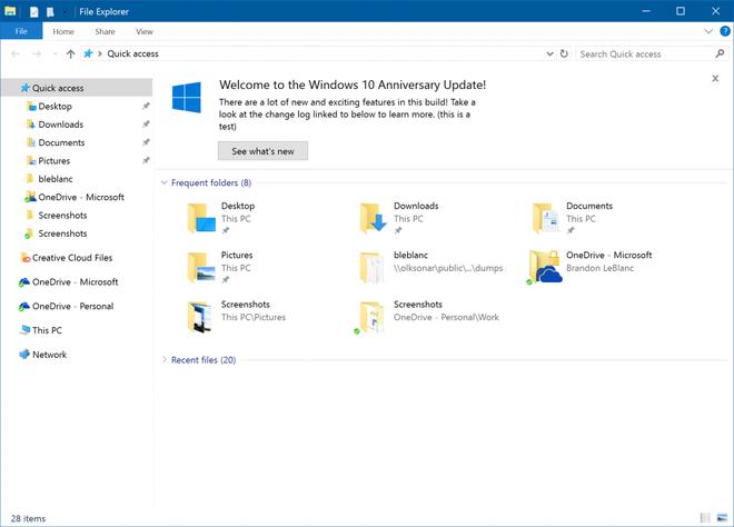 Windows 10 Explorador de Arquivos