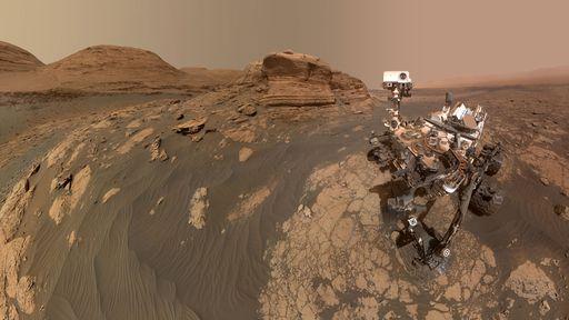 """Rover Curiosity tira nova selfie em Marte, desta vez em frente ao """"Mont Mercou"""""""