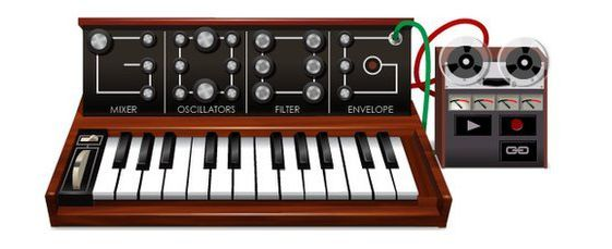 Doodle sintetizador Robert Moog