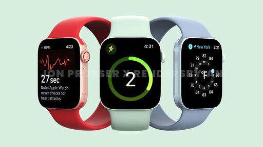 Apple Watch Series 7 tem design vazado mostrando laterais retas