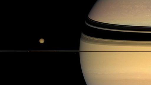 """Uma molécula """"estranha"""" foi descoberta na atmosfera da lua Titã, de Saturno"""